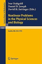 Nonlinear problems in the physical sciences and biology; proceedings of a Battelle Summer Institute, Seattle, July 3-28, 1972