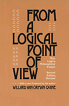 From a logical point of view : 9 logico-philosophical essays