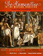 The humanities in the Western tradition : ideas and aesthetics