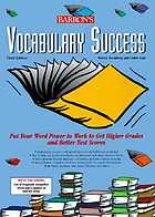 Vocabulary success
