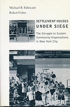 Settlement houses under siege : the struggle to sustain community organizations in New York city