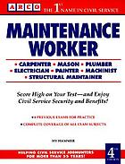 Maintenance worker : mechanical maintainer