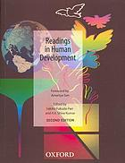 Readings in human development : concepts, measures and policies for a development paradigm