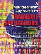A management approach to database applications