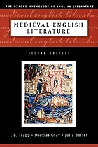 Medieval English literatureThe Oxford anthology of English literature