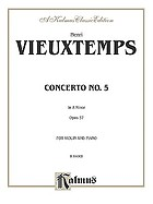 Concerto no. 5 in A minor, opus 37, for violin and piano