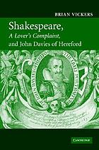 "Shakespeare, ""A lover's complaint"", and John Davies of Hereford"