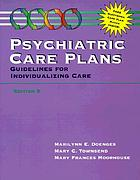 Psychiatric care plans : guidelines for individualizing care