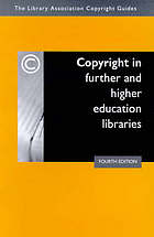 Copyright in further and higher education libraries