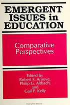 Emergent issues in education : comparative perspectives