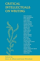 Critical intellectuals on writing