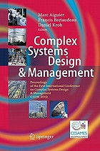 Complex Systems Design & Management Proceedings of the First International Conference on Complex System Design & Management CSDM 2010