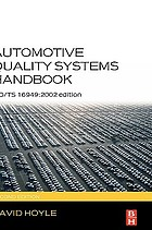 Automotive quality systems handbook ISO/TS 16949:2002 edition