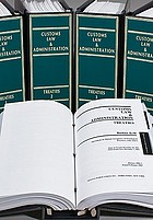 Customs law & administration : treaties