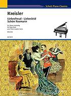 Liebesfreud = [Love's joy] : a transcription for piano