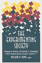 The experimenting society : essays in honor of Donald T. Campbell