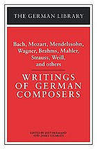 Writings of German composers