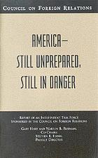 America-still unprepared, still in danger