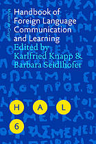 Handbook of foreign language communication and learning Handbooks of applied linguistics : communication competence, language and communication problems, practical solutions