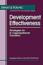 Development effectiveness : strategies for IS organizational transition