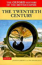The Oxford History of the British EmpireThe twentieth century