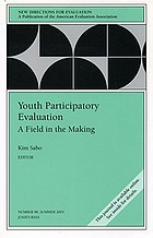 Youth participatory evaluation : a field in the making