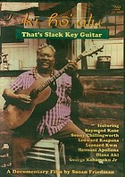 Kī hōʻalu that's slack key guitar