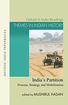 India's partition : process, strategy, and mobilization