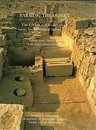 Farming the desert : the UNESCO Libyan Valleys Archaeological Survey