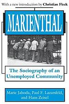 Marienthal; the sociography of an unemployed community