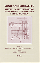 Mind and modality : studies in the history of philosophy in honour of Simo Knuuttila