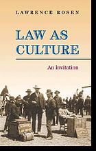 Law as culture : an invitation