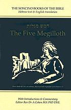The five Megilloth : Hebrew text & English translation with introductions and commentary