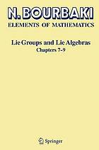 Lie groups and lie algebras. Chapters 7-9
