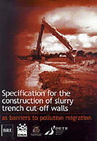 Specification for the construction of slurry trench cut-off walls as barriers to pollution migration