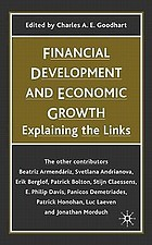 Financial development and economic growth : explaining the links
