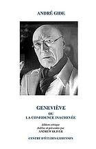 Geneviève, ou, La confidence inachevée