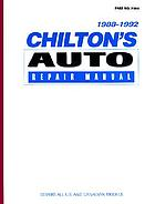 Chilton's auto repair manual, 1988-1992