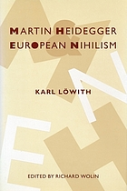 Martin Heidegger and European nihilism