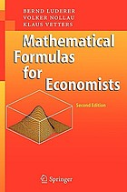 Mathematical formulas for economists