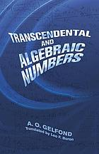 Transcendental and algebraic numbers