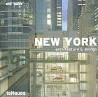 New York : architecture & design
