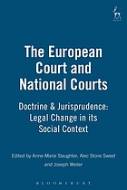 The European Court and national courts-- doctrine and jurisprudence : legal change in its social context