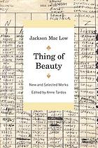 Thing of beauty : new and selected works