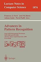 Advances in pattern recognition : ICAPR 2001 : second international conference, Rio de Janeiro, Brazil, March 11-14, 2001 : proceedings
