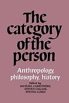 The Category of the person : anthropology, philosophy, history