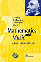 Mathematics and music : a diderot mathematical forum