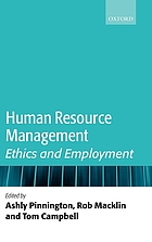 Human resource management : ethics and employment