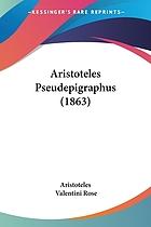 Aristoteles pseudepigraphus