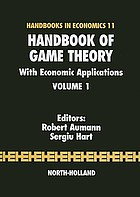 Handbook of game theory, with economic applications